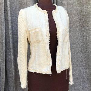 Zara cream tweed jacket